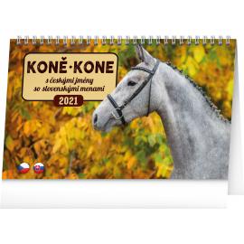 Stolový kalendár Koně – Kone CZ/SK 2021, 23,1 × 14,5 cm