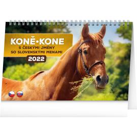 Stolový kalendár Koně – Kone CZ/SK 2022, 23,1 × 14,5 cm