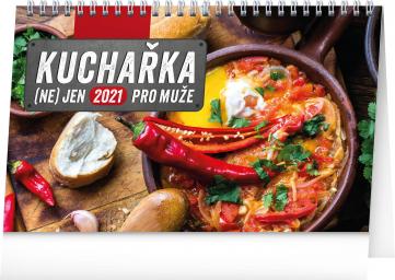 Stolový kalendár Kuchárka (nie)len pre mužov 2021, 23,1 × 14,5 cm