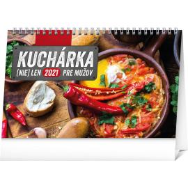 Stolový kalendár Kuchárka (nie)len pre mužov SK 2021, 23,1 × 14,5 cm