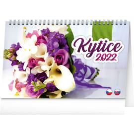 Stolový kalendár Kytice CZ/SK 2022, 23,1 × 14,5 cm
