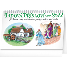 Stolový kalendár Ľudová príslovia II. na rok 2022 – Kamila Skopová, 23,1 × 14,5 cm