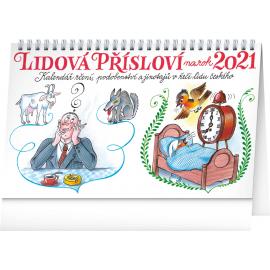 Stolový kalendár Ľudová príslovia na rok 2021 – Kamila Skopová, 23,1 × 14,5 cm