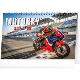 Stolový kalendár Motorky 2022, 23,1 × 14,5 cm