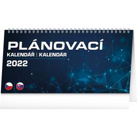 Stolový kalendár Plánovací CZ/SK 2022, 25 × 12,5 cm
