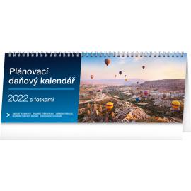 Stolový kalendár Plánovací daňový s fotkami 2022, 33 × 12,5 cm