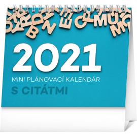 Stolový kalendár Plánovací s citátmi SK 2021, 16,5 × 13 cm