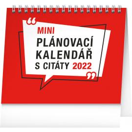 Stolový kalendár Plánovací s citátmi SK 2022, 16,5 × 13 cm