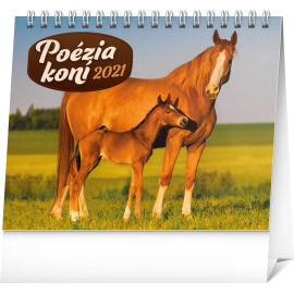 Stolový kalendár Poézia koní SK 2021, 16,5 × 13 cm