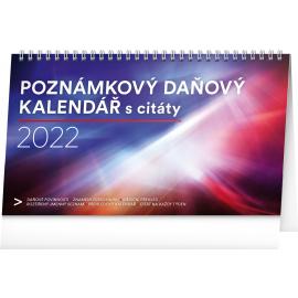 Stolový kalendár Poznámkový daňový s citátmi SK 2022, 25 × 14,5 cm