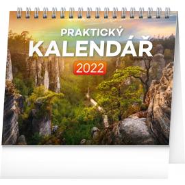 Stolový kalendár Praktický kalendár 2022, 16,5 × 13 cm