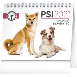 Stolový kalendár Psy – s menami psov SK 2021, 16,5 × 13 cm, 16,5 × 13 cm