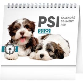 Stolový kalendár Psy – s menami psov SK 2022, 16,5 × 13 cm, 16,5 × 13 cm
