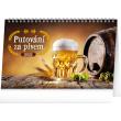 Stolový kalendár Putovanie za pivom 2021, 23,1 × 14,5 cm