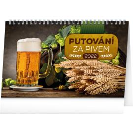 Stolový kalendár Putovanie za pivom 2022, 23,1 × 14,5 cm
