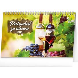 Stolový kalendár Putovanie za vínom 2021, 23,1 × 14,5 cm