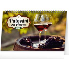 Stolový kalendár Putovanie za vínom 2022, 23,1 × 14,5 cm
