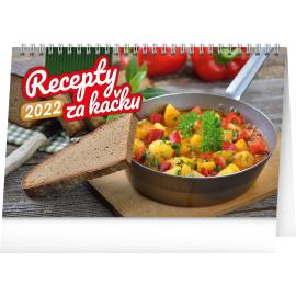 Stolový kalendár Lacné recepty 2022, 23,1 × 14,5 cm