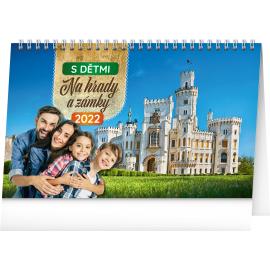 Stolový kalendár S deťmi na hrady a zámky 2022, 23,1 × 14,5 cm
