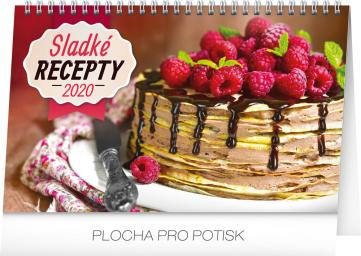 Stolní kalendář Sladké recepty CZ 2020, 23,1 x 14,5 cm