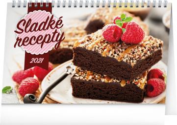 Stolový kalendár Sladké recepty 2021, 23,1 × 14,5 cm