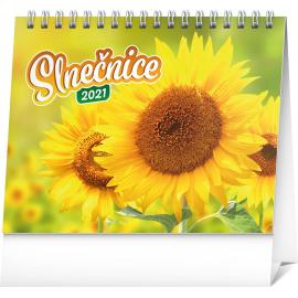 Stolový kalendár Slnečnice s citátmi SK 2021, 16,5 × 13 cm