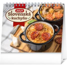 Stolový kalendár Slovenská kuchyňa SK 2021, 16,5 × 13 cm