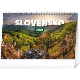 Stolový kalendár Slovensko 2021 SK, 23,1 × 14,5 cm