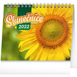 Stolový kalendár Slnečnice, s citátmi SK 2022, 16,5 × 13 cm
