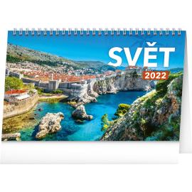 Stolový kalendár Svet SK 2022, 23,1 × 14,5 cm