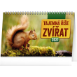 Stolový kalendár Tajemná ríše zvierat 2021, 23,1 × 14,5 cm