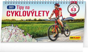 Stolový kalendár Tipy na cyklovýlety 2021, 30 × 16 cm