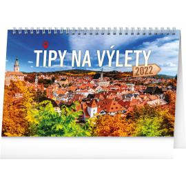 Stolový kalendár Tipy na výlety 2022, 23,1 × 14,5 cm