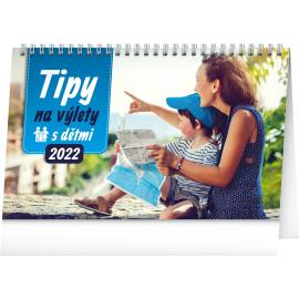 Stolový kalendár Tipy na výlety s detmi 2022, 23,1 × 14,5 cm