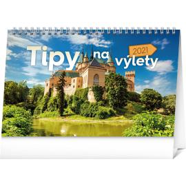 Stolový kalendár Tipy na výlety SK 2021, 23,1 × 14,5 cm