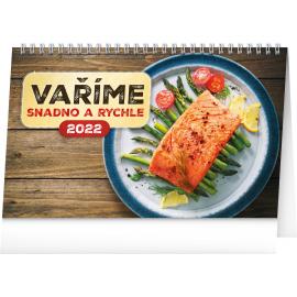 Stolový kalendár Rýchle recepty CZ 2022, 23,1 × 14,5 cm