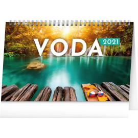 Stolový kalendár Voda CZ/SK 2021, 23,1 × 14,5 cm