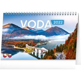 Stolový kalendár Voda CZ/SK 2022, 23,1 × 14,5 cm