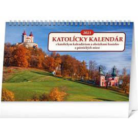 Stolový Katolícky kalendár SK 2021, 23,1 × 14,5 cm