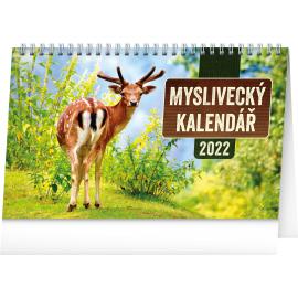 Stolový Poľovnícky kalendár SK 2022, 23,1 × 14,5 cm