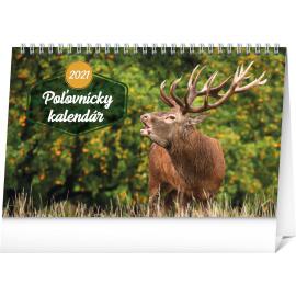 Stolový Poľovnícky kalendár SK 2021, 23,1 × 14,5 cm