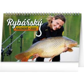 Stolový Rybársky kalendár 2022, 23,1 × 14,5 cm
