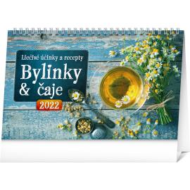 Stolový kalendár Bylinky a čaje 2022, 23,1 × 14,5 cm