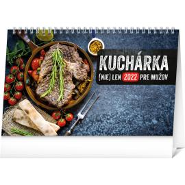 Stolový kalendár Kuchárka (nie)len pre mužov 2022, 23,1 × 14,5 cm