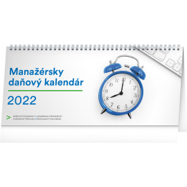 Stolový kalendár Manažérsky daňový 2022, 33 × 14,5 cm