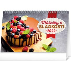 Stolový kalendár Múčniky a sladkosti 2022, 23,1 × 14,5 cm