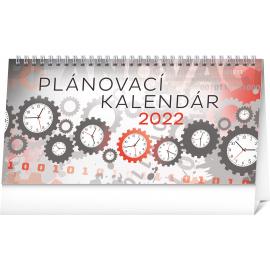 Stolový kalendár Plánovací 2022, 25 × 12,5 cm