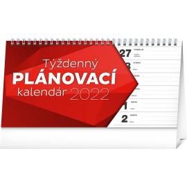 Stolový kalendár Plánovací riadkový 2022, 25 × 12,5 cm