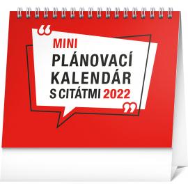 Stolový kalendár Plánovací s citátmi 2022, 16,5 × 13 cm