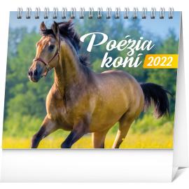 Stolový kalendár Poézia koní 2022, 16,5 × 13 cm